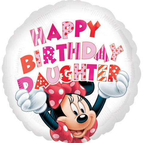 Happy Birthday Daughter Minnie Mouse Foil Balloon | 18""