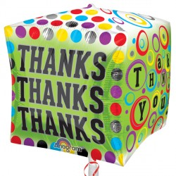 Cubez Polka Dotty Thanks Balloon | 15""