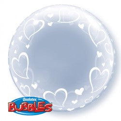 Bubble Deco Stylish Hearts Balloon | 24""