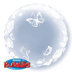 Bubble Deco Elegant Roses & Butterflies Balloon | 24""