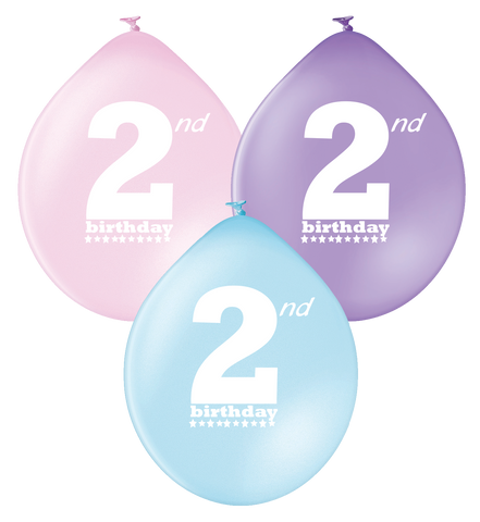 Latex Preprinted 2nd Balloons | 10""