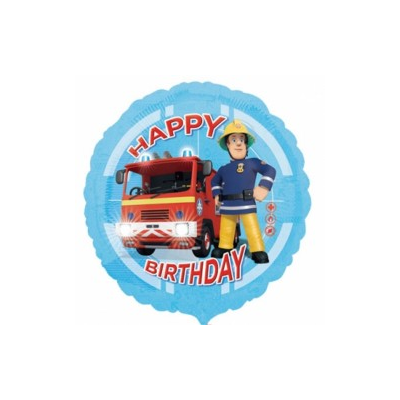 Foil Round Fireman Sam Engine Birthday Balloon | 18""