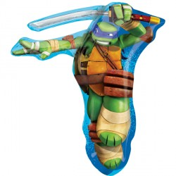 Foil Shape Leonardo Turtle Balloon 28""