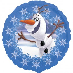 Foil Round Disney Olaf Blue Frozen Balloon | 18""