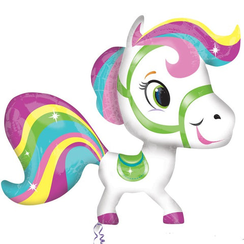 Foil Playful Horse Rainbow Street Treat Balloon | 28""