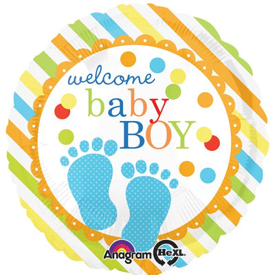 Welcome Baby Boy Foil Balloon | 18""