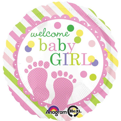 Welcome Baby Girl Foil Balloon | 18""