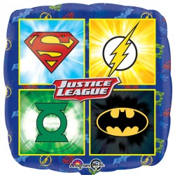 Foil Square Justice League Emblems Balloon | 18""
