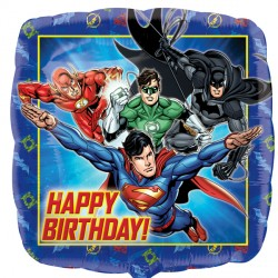 Foil Square Justice League Birthday Balloon | 18""