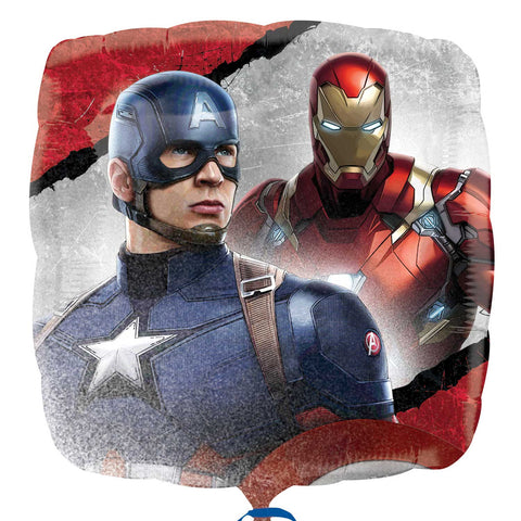 Foil Square Marvel Captain America Balloon | 18""