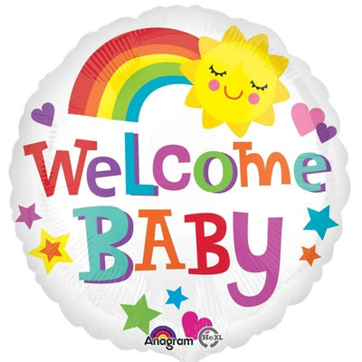 Welcome Baby Rainbow Foil Balloon | 18""