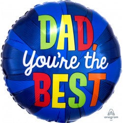 Foil Round You're The Best Dad Ever Balloon |18""