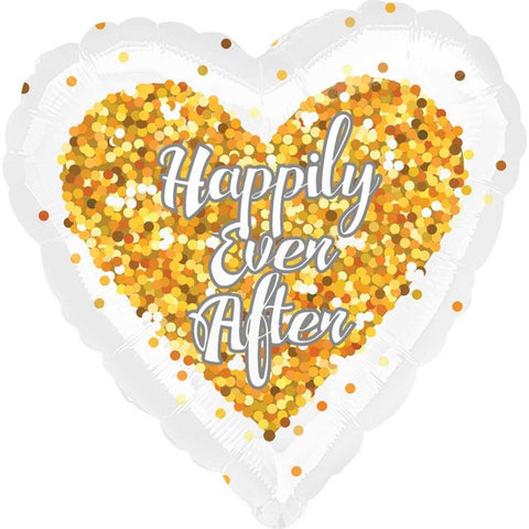 Gold Confetti Happily Ever After Foil | 18""