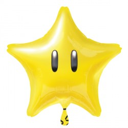 Foil Shape Nintendo Star Balloon