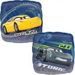 Foil Square Disney Cars Storm & Cruz Balloon | 18""