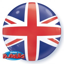 Bubble Message Union Jack Balloon | 22""