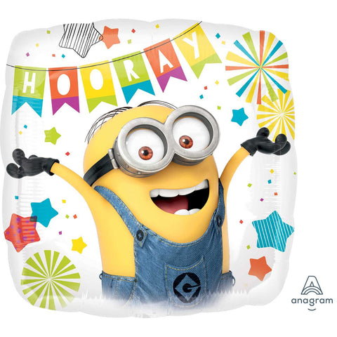 Foil Square Minions Party Balloon | 18""