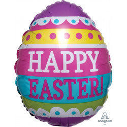 Foil Shape Happy Easter Spring Egg Balloon S40 | 18""