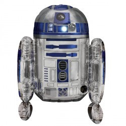 Foil Shape Disney Star Wars R2D2 Air Filled Balloon P50 | 18""