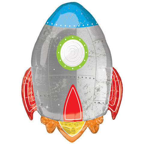 Blast Off Rocket Shape Foil Balloon | 29"