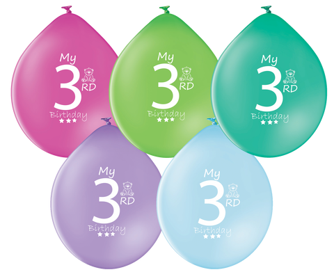 Latex Preprinted 3rd Balloons | 10""