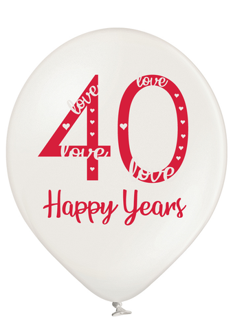 Latex Preprinted 40th Anniversary Balloons | 12""