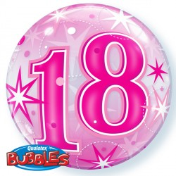 Bubble Message 18 Pink Starburst Balloon | 22""