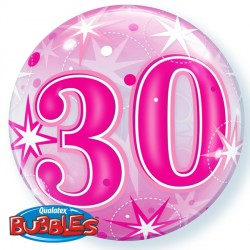 Bubble Message 30 Pink Starburst Balloon | 22""