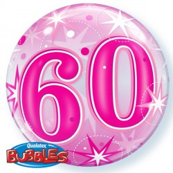 Bubble Message 60 Pink Starburst Balloon | 22""
