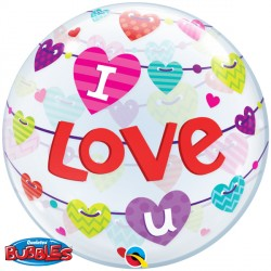 Bubble Message I Love You Hearts Balloon | 22""