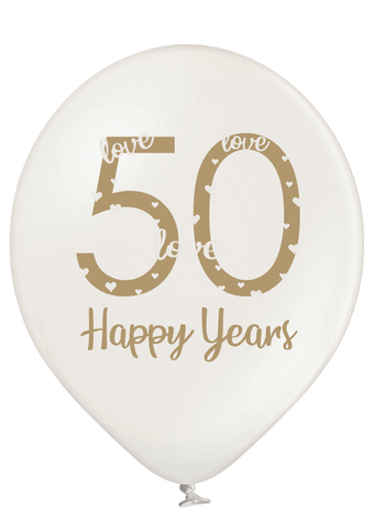 Latex Preprinted 50th Anniversary Balloons | 12""