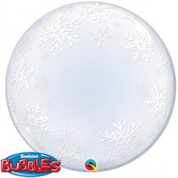 Bubble Deco Frosty Snowflakes Balloon | 24""