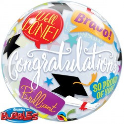 Bubble Message Congratulations Graduate Balloon | 22""
