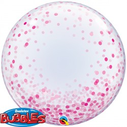 Bubble Deco Confetti Dots Pink Balloon | 24""