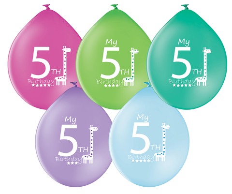 Latex Preprinted 5th Balloons | 10""