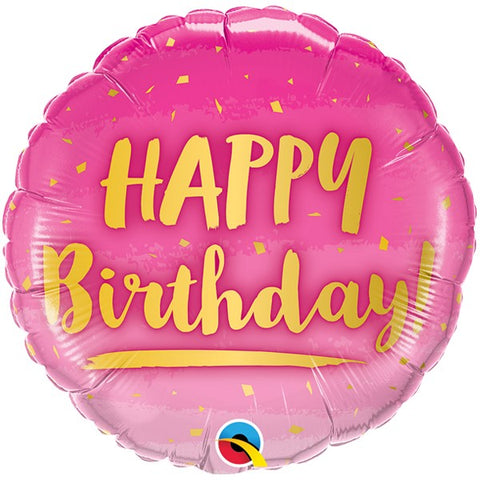 Pink Ombre Happy Birthday Foil Balloon | 18""