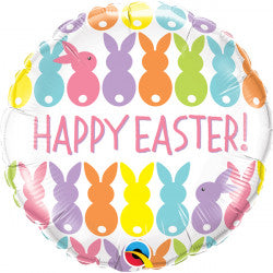 Foil Round Happy Easter Bunnies Balloon S40 | 18""