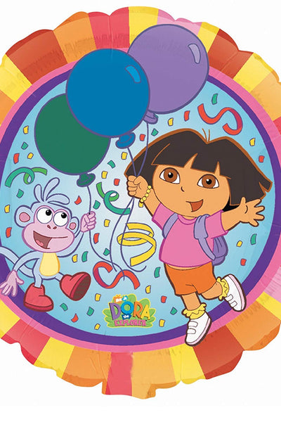 Foil Round Dora Party Balloon | 18""