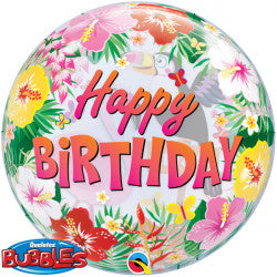 Bubble Message Birthday Tropical Party Balloon | 22""