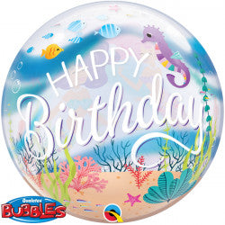Bubble Message Birthday Mermaid Party Balloon | 22""