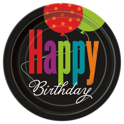 "Birthday Cheer 7"" Plates 