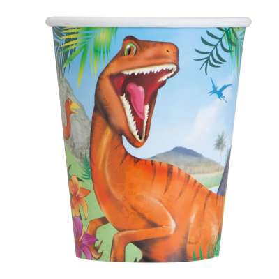 Dinosaur 9oz Cups | Pack of 8