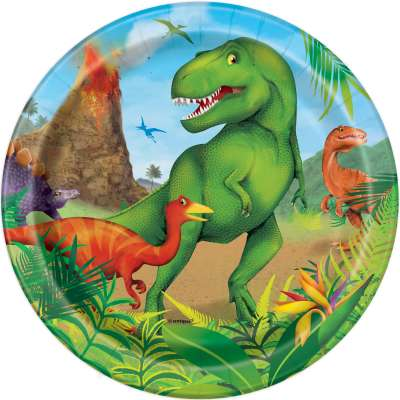 "Dinosaur 7"" Plates 