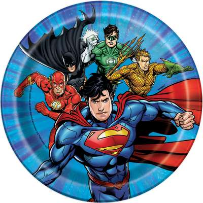"Justice League 7"" Plates 