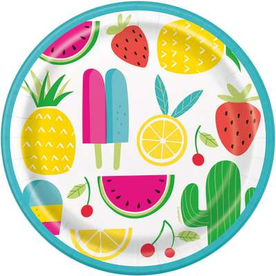 "Sweet & Succulent Summer 7"" Plates 