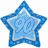 Foil Star Blue Milestone Birthday Balloons | 18""