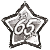 Foil Star Black Milestone Birthday Balloons | 18""