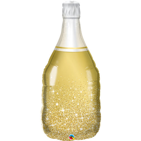 Foil Shape Gold Champagne Bottle Balloon P30 | 39""