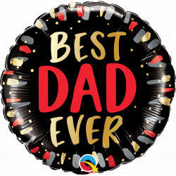 Foil Round Best Dad Ever Balloon |18""