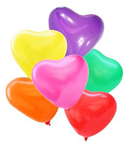Latex Heart Assorted Balloons | 12""